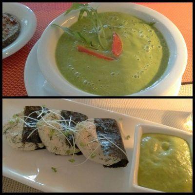 Для жаркого дня:) шпинат, орехи, семечки, зелень. / Hot day option: #vegan #rawfood #spinach #nuts #seeds and other #greens