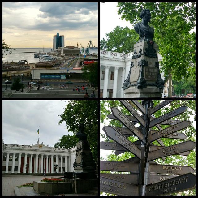 #Одесса день первый:) Было дождливое, но мы гуляли! Морпорт, Потемкинская лестница, Приморский бульвар, Дерибасовская и дальше, дальше))) / #Odessa #Ukraine