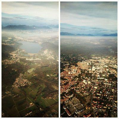 Прощание с Ломбардией :) #lombardia #italy #milan #malpensa #plane #flight #sky #heights #travel #flying