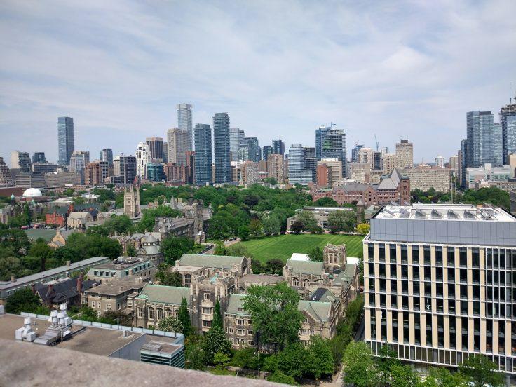 Университет Торонто: вид на кампус с астрономической башни