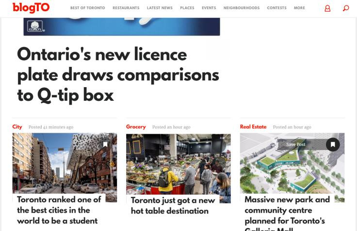 blogTO - лучший блог о Торонто