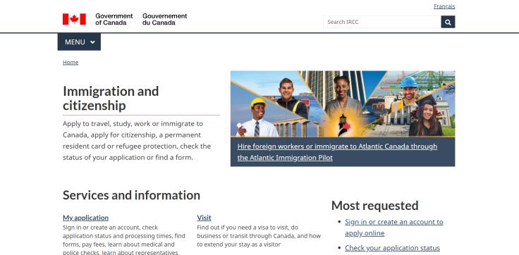 Министерство иммиграции, Канада