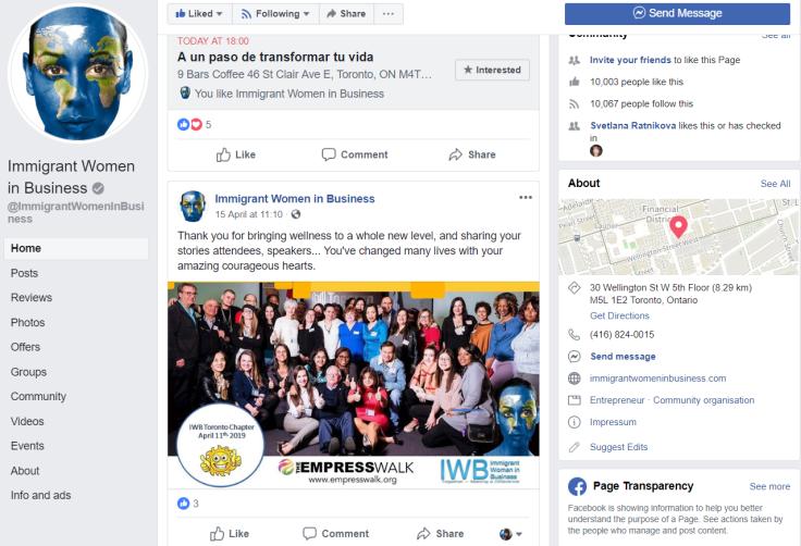 IWB - сообщество для женщин, иммигрировавших в Канаду и занимающихся развитием бизнеса