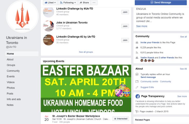 UkrTO - онлайн сообщество украинцев в Торонто