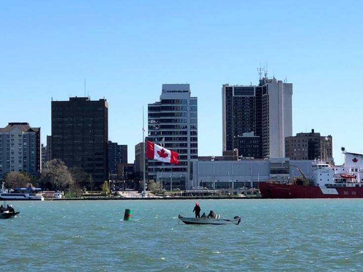 Виндзор, Онтарио -- вид из Детройта